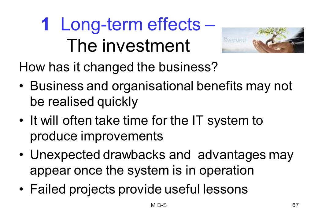 1 Long-term effects – The investment