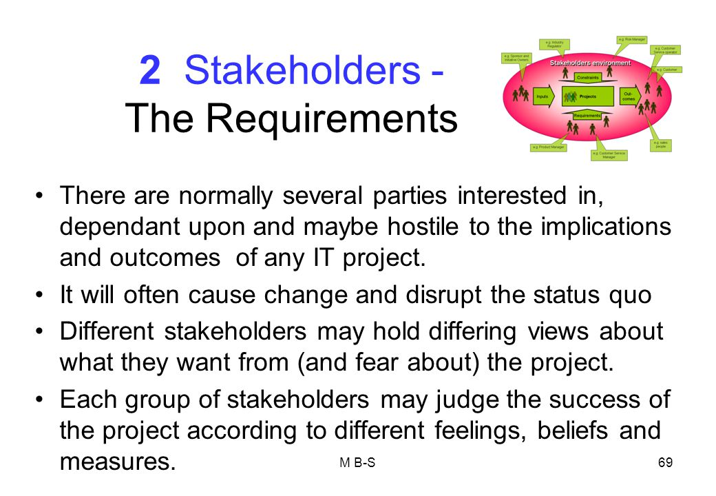 2 Stakeholders - The Requirements