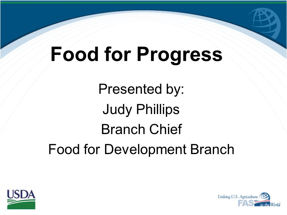 Food for Development Branch