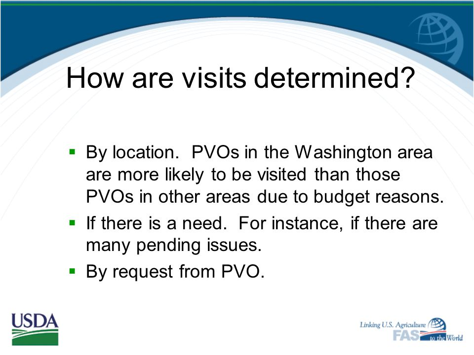 How are visits determined