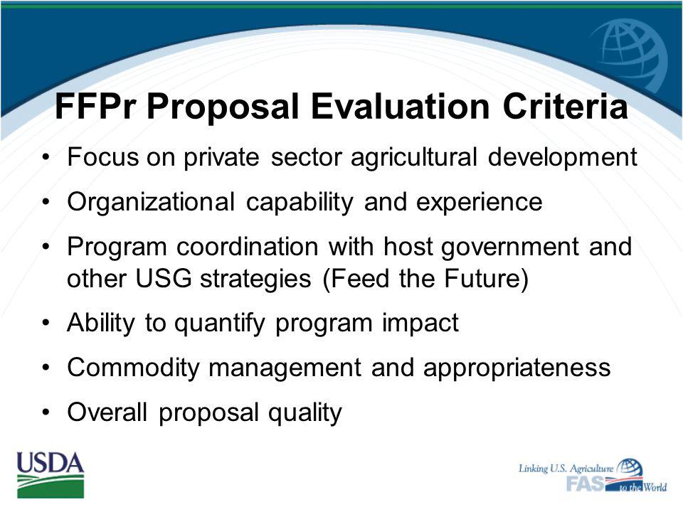 FFPr Proposal Evaluation Criteria