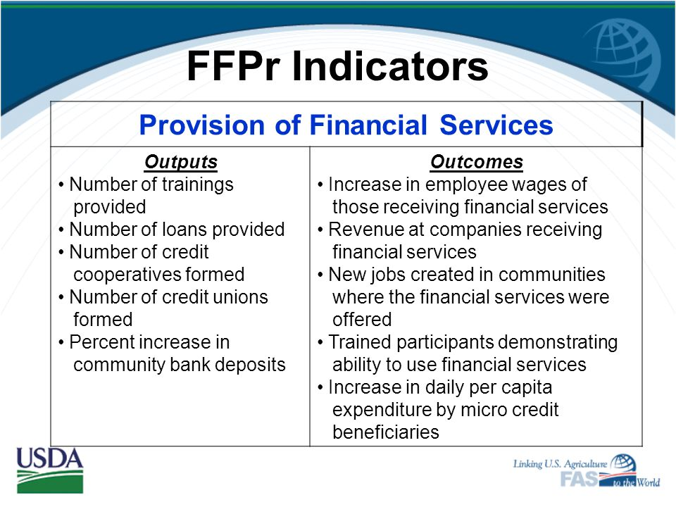 Provision of Financial Services