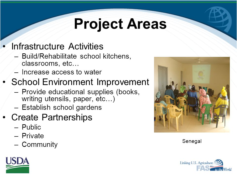 Project Areas Infrastructure Activities School Environment Improvement