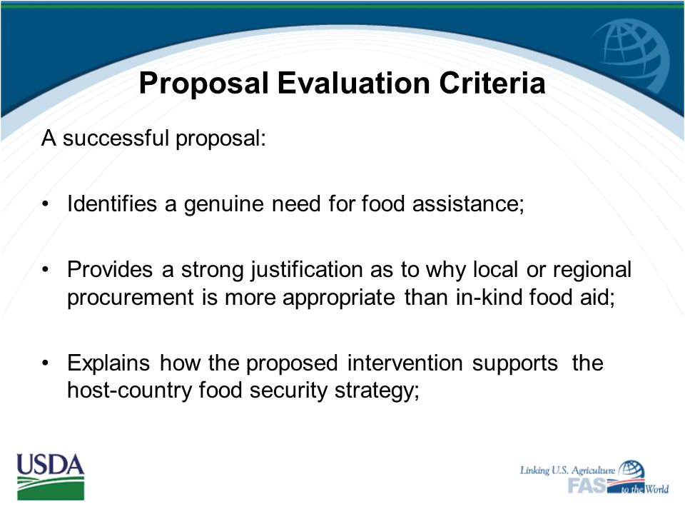 Proposal Evaluation Criteria