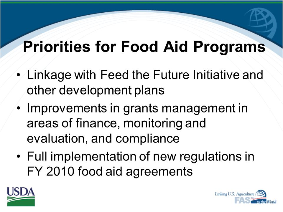 Priorities for Food Aid Programs
