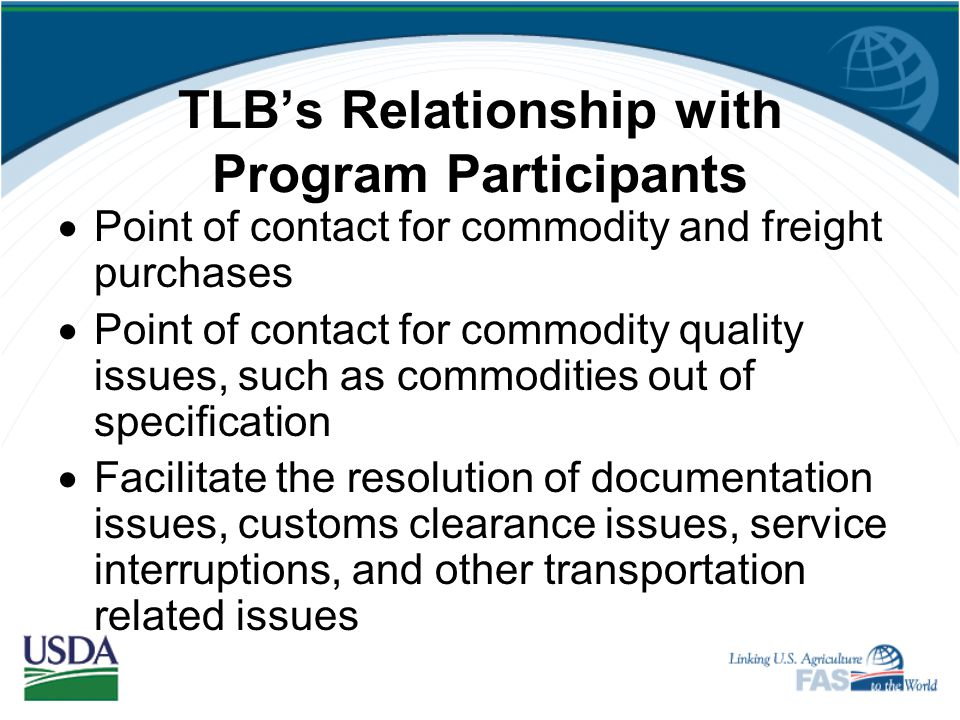 TLB's Relationship with Program Participants