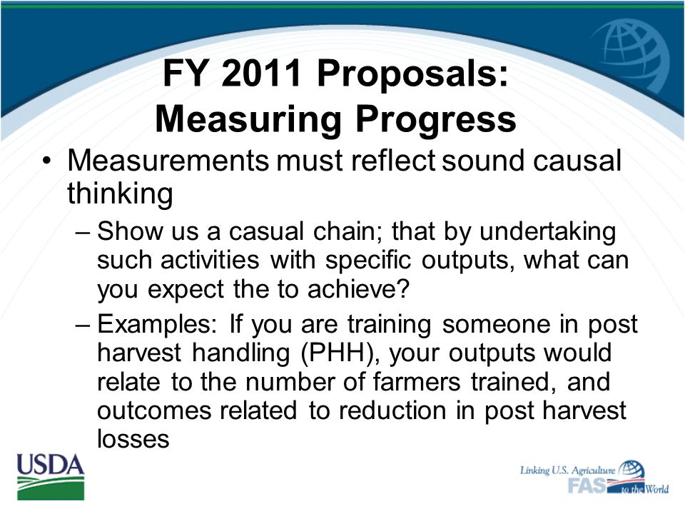 FY 2011 Proposals: Measuring Progress