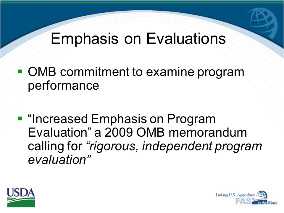 Emphasis on Evaluations