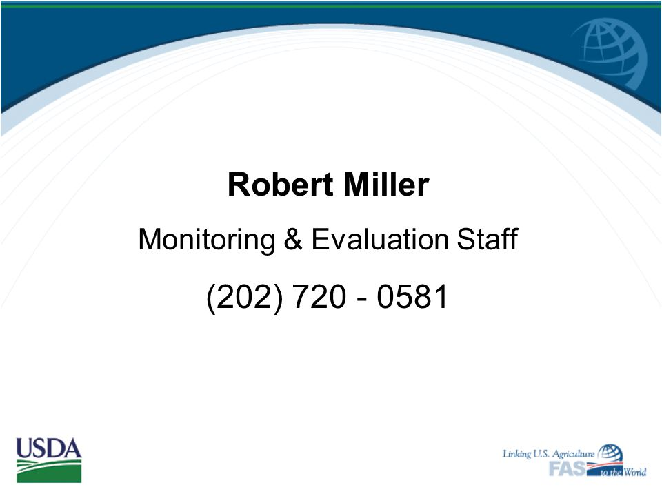 Monitoring & Evaluation Staff