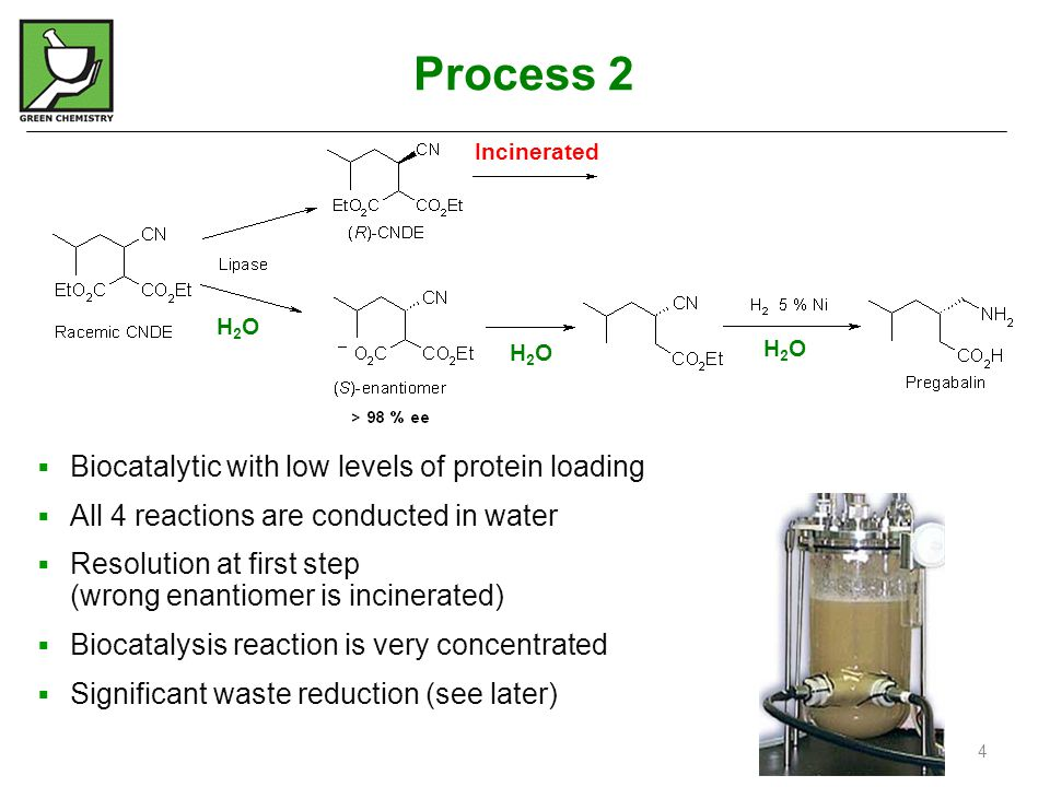 Process 2 Biocatalytic with low levels of protein loading