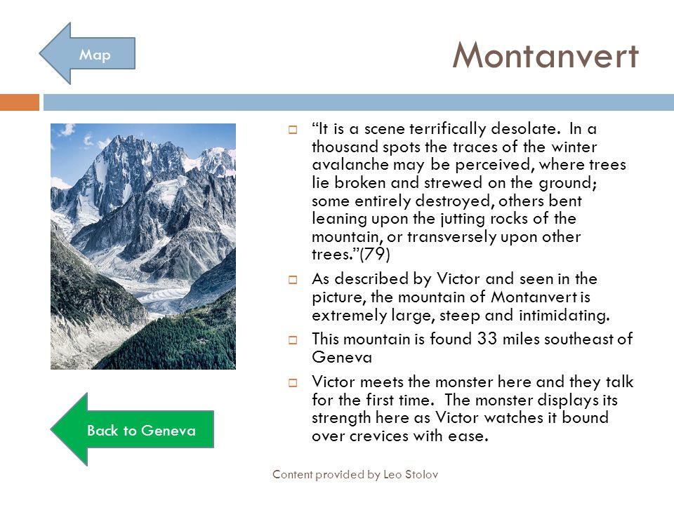 Montanvert Map.