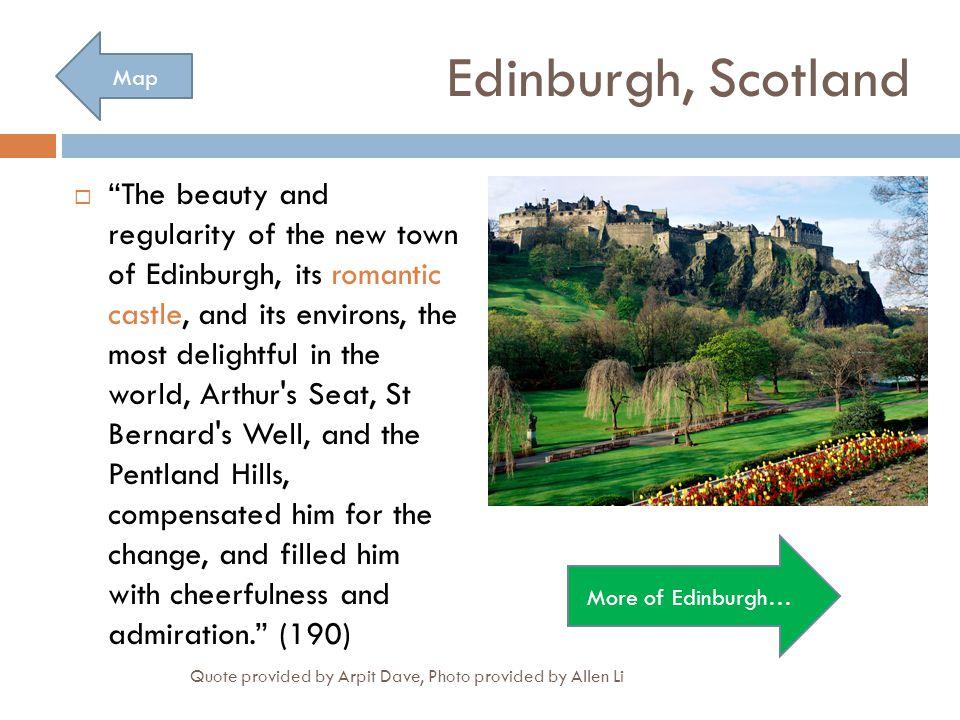 Edinburgh, Scotland Map.