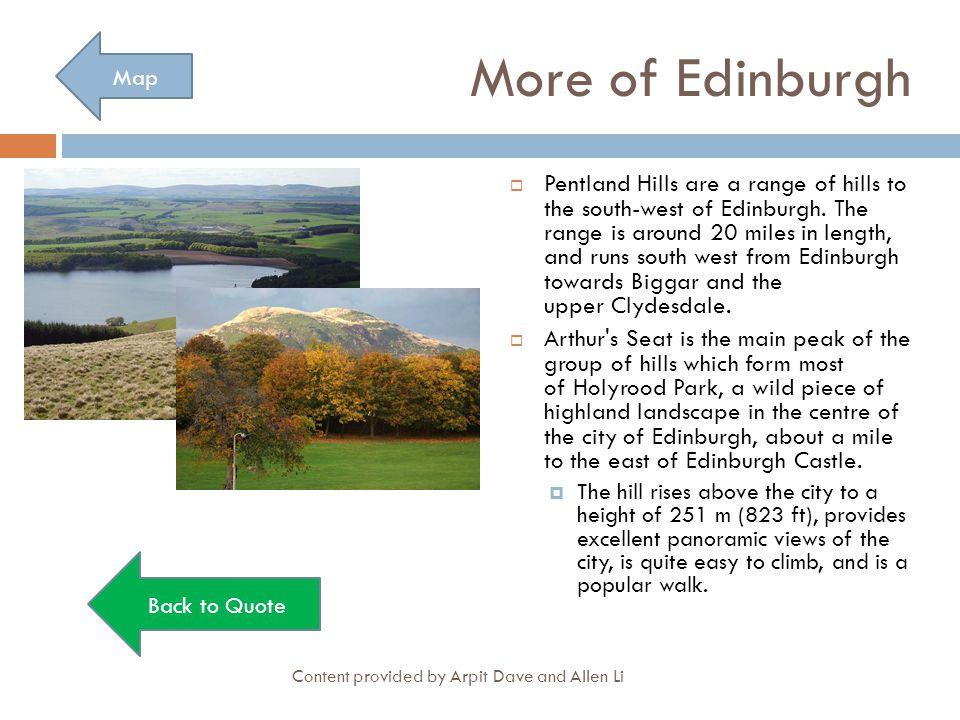 More of Edinburgh Map.