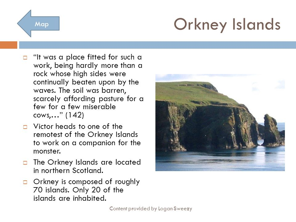 Orkney Islands Map.