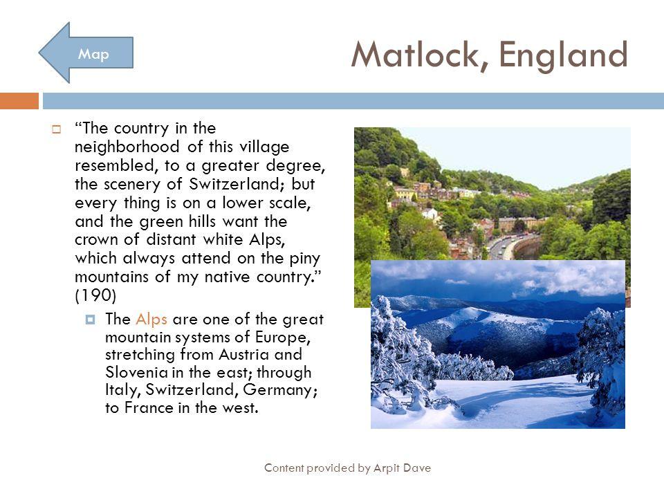 Matlock, England Map.