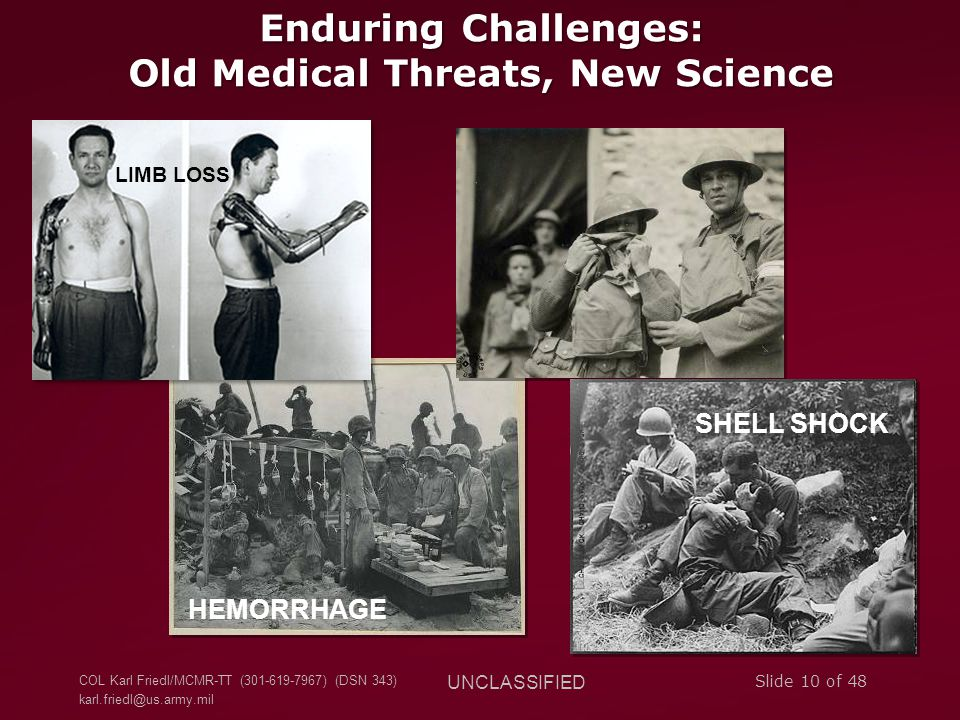 Enduring Challenges: Old Medical Threats, New Science