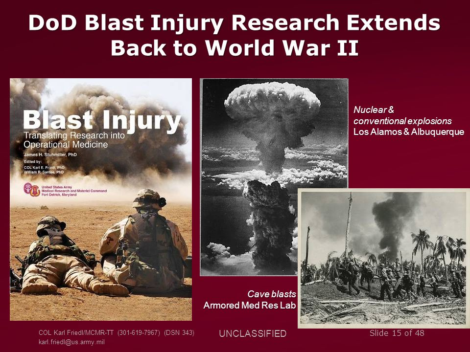 DoD Blast Injury Research Extends Back to World War II