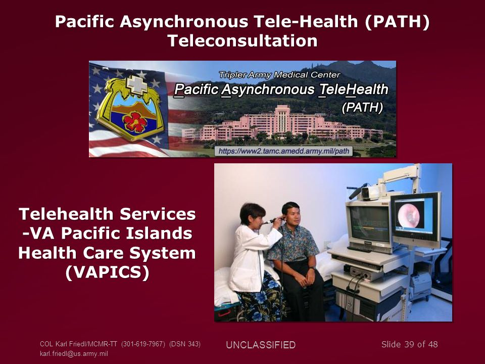 Pacific Asynchronous Tele-Health (PATH) Teleconsultation