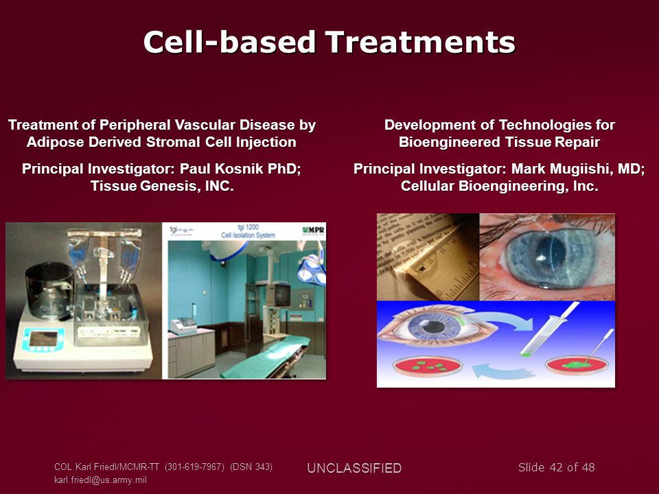 Cell-based Treatments