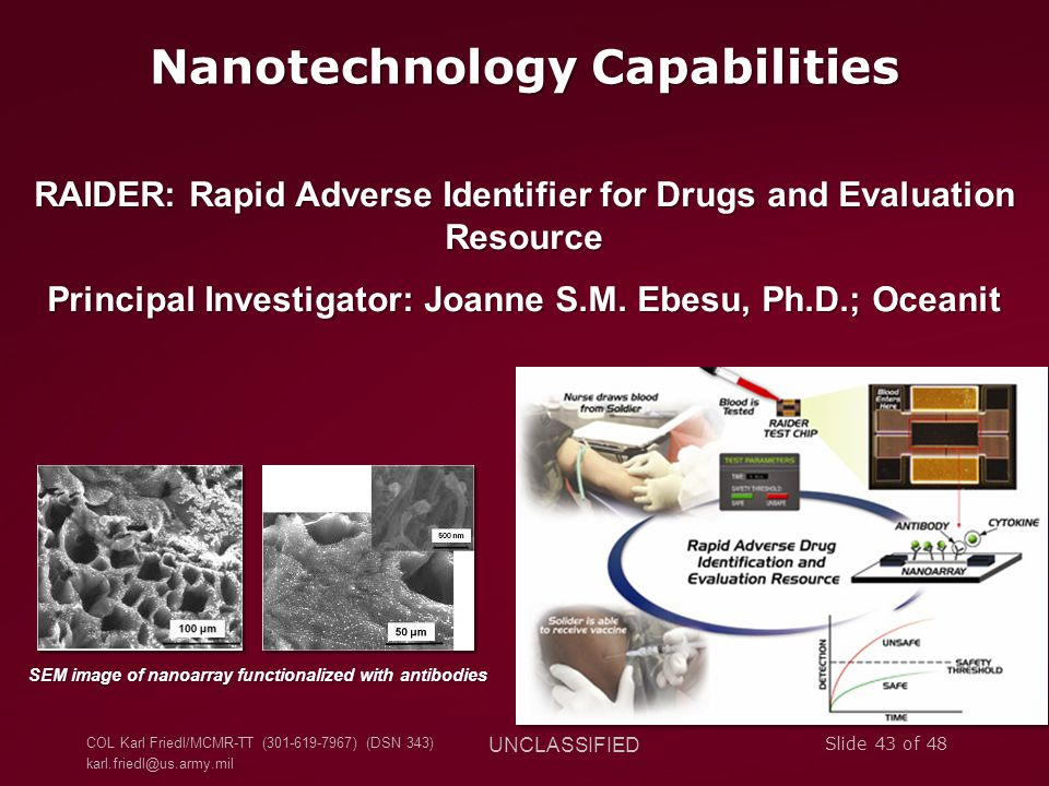 Nanotechnology Capabilities