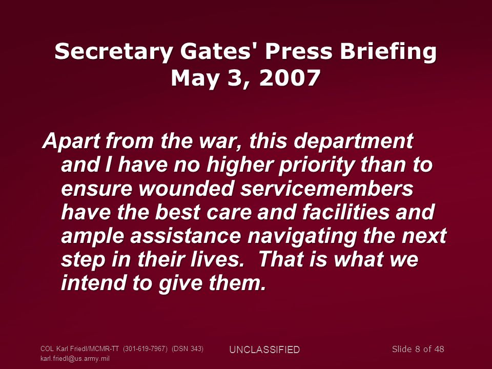 Secretary Gates Press Briefing May 3, 2007