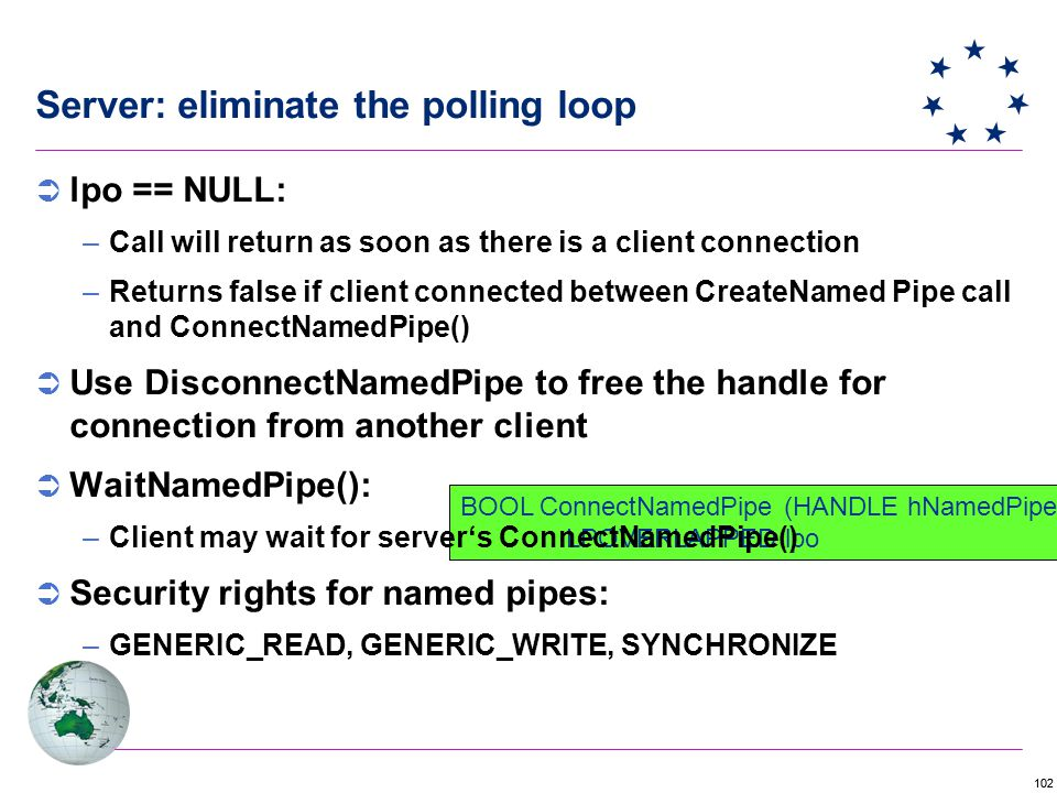 Server: eliminate the polling loop