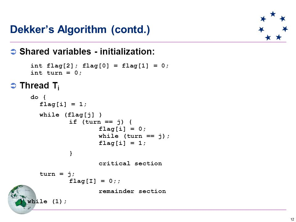 Dekker's Algorithm (contd.)