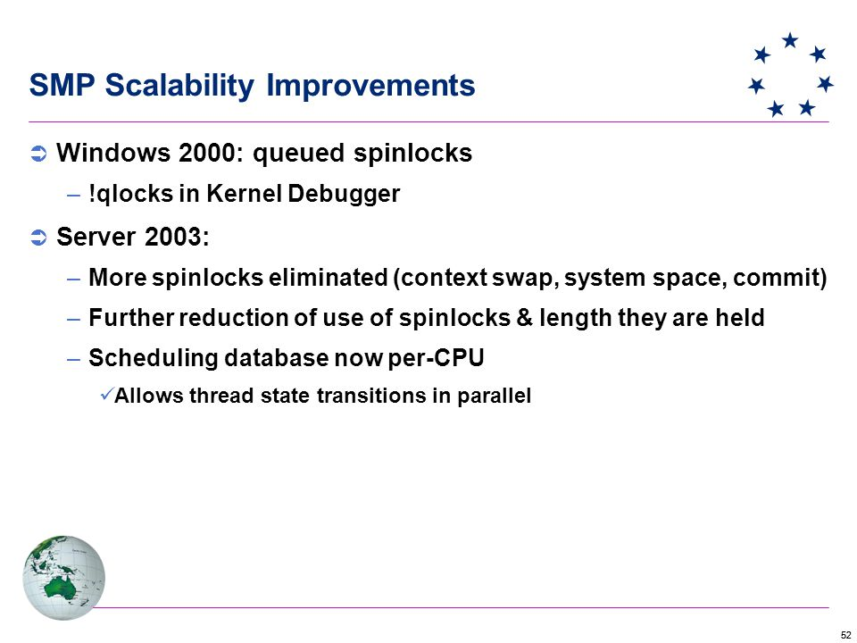 SMP Scalability Improvements