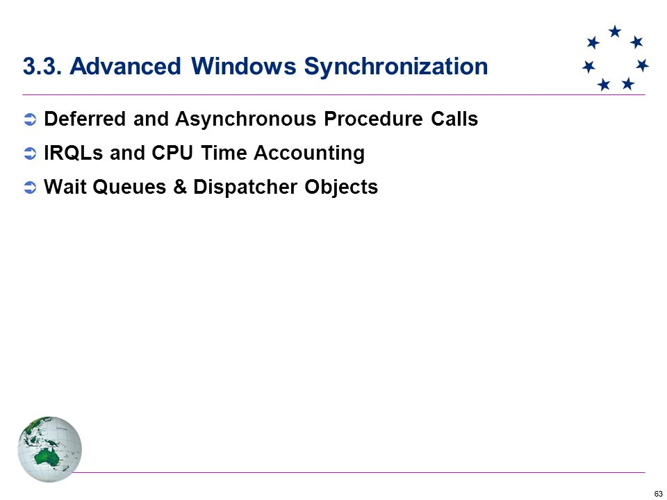 3.3. Advanced Windows Synchronization