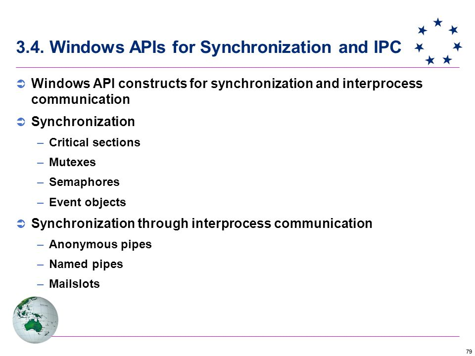 3.4. Windows APIs for Synchronization and IPC