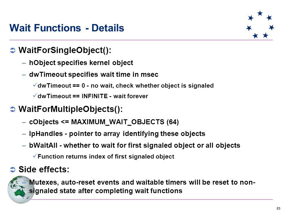 Wait Functions - Details