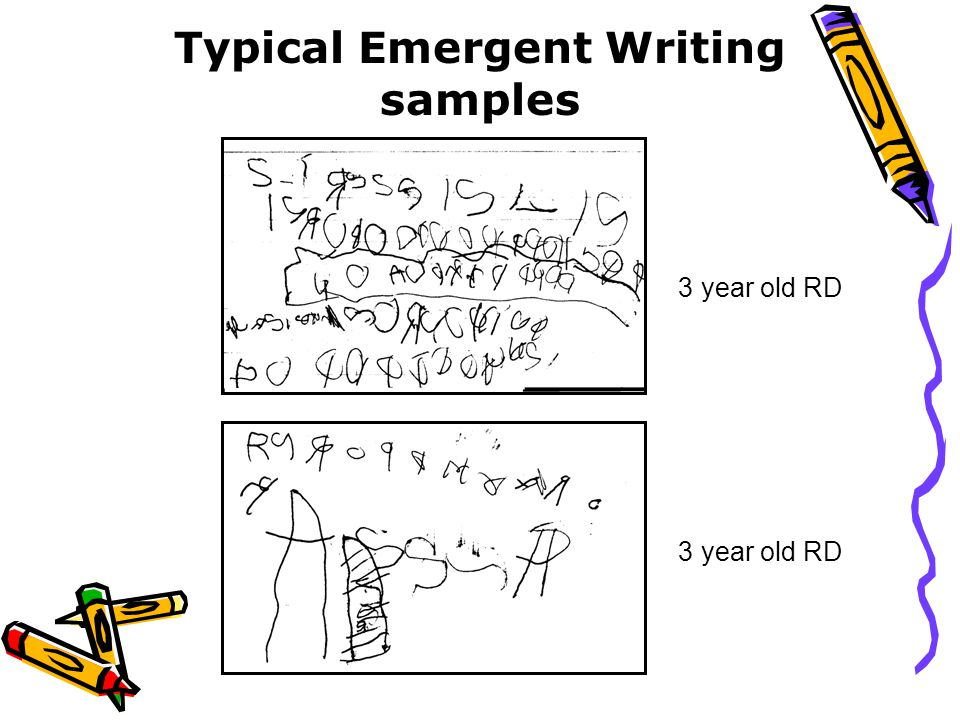Typical Emergent Writing