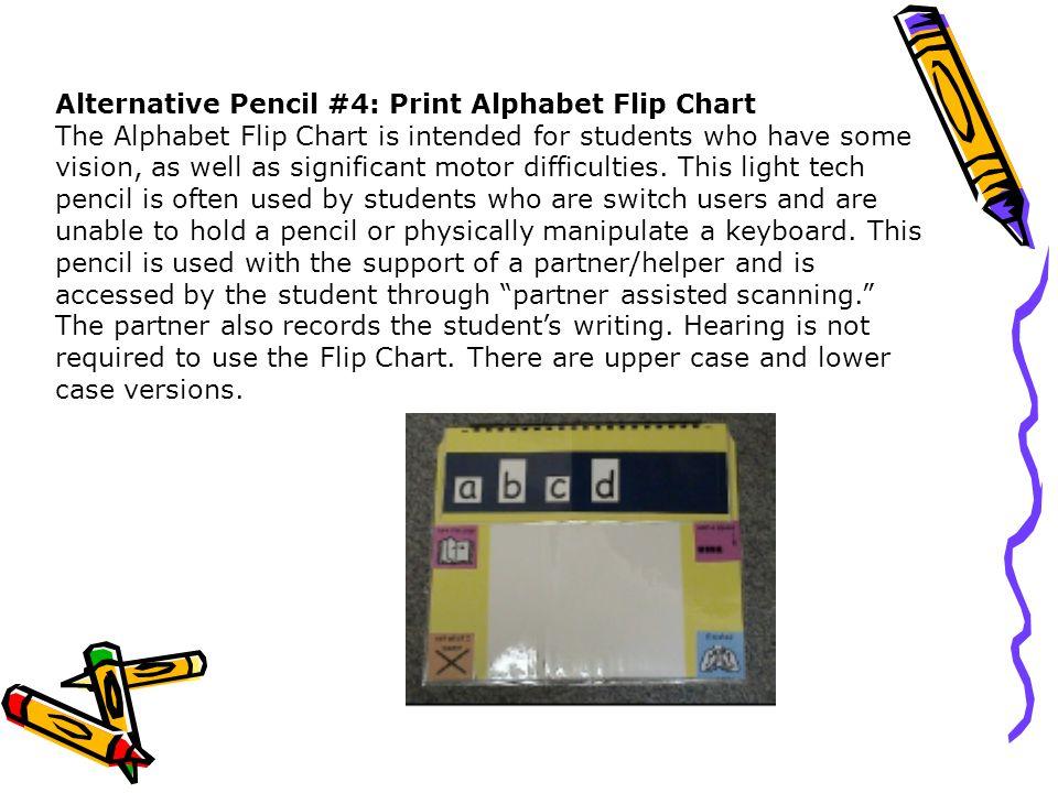 Alternative Pencil #4: Print Alphabet Flip Chart