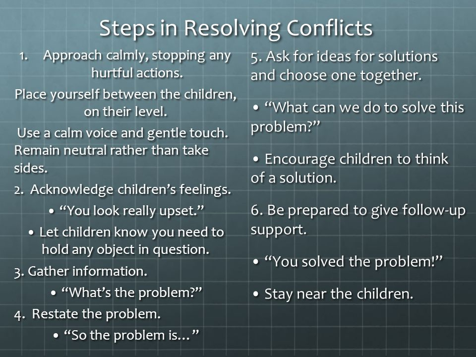 Steps in Resolving Conflicts