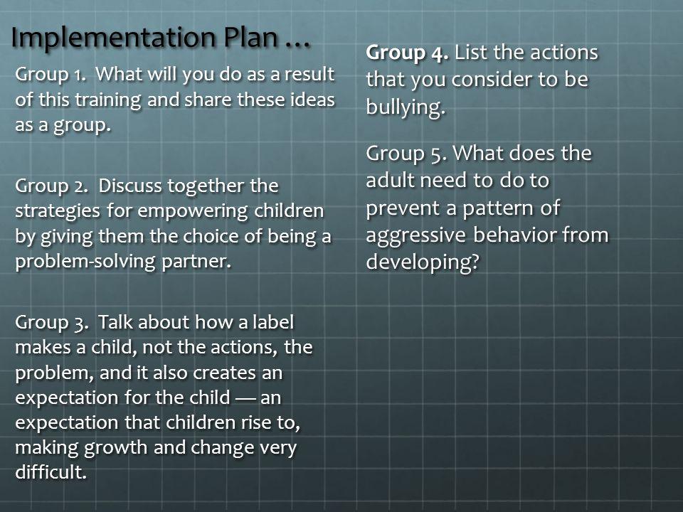 Implementation Plan …