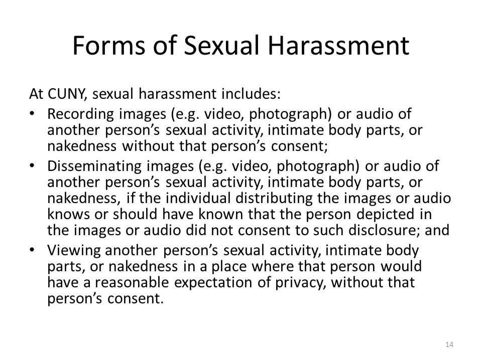 Forms of Sexual Harassment