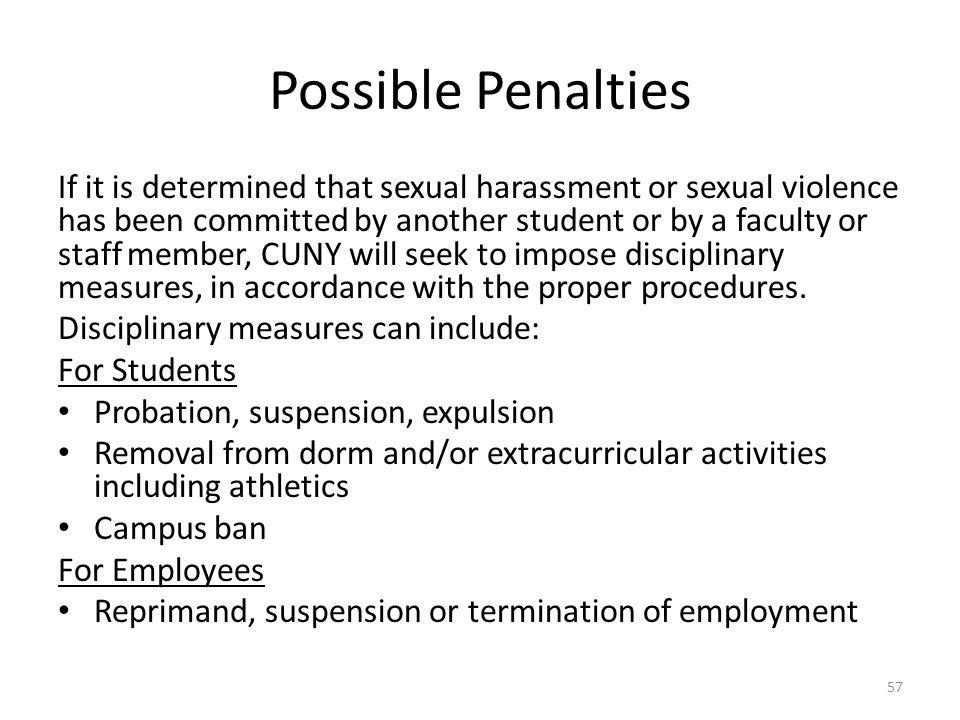 Possible Penalties