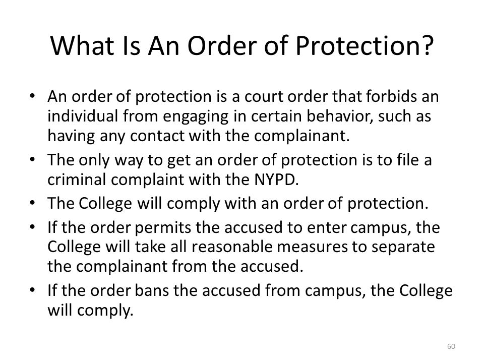 What Is An Order of Protection