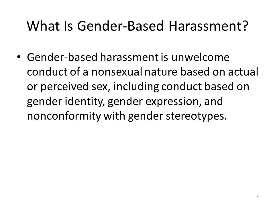 What Is Gender-Based Harassment