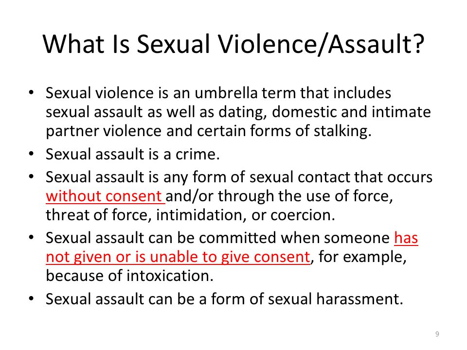 What Is Sexual Violence/Assault