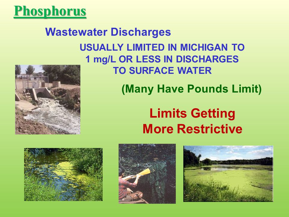 Phosphorus Limits Getting More Restrictive Wastewater Discharges