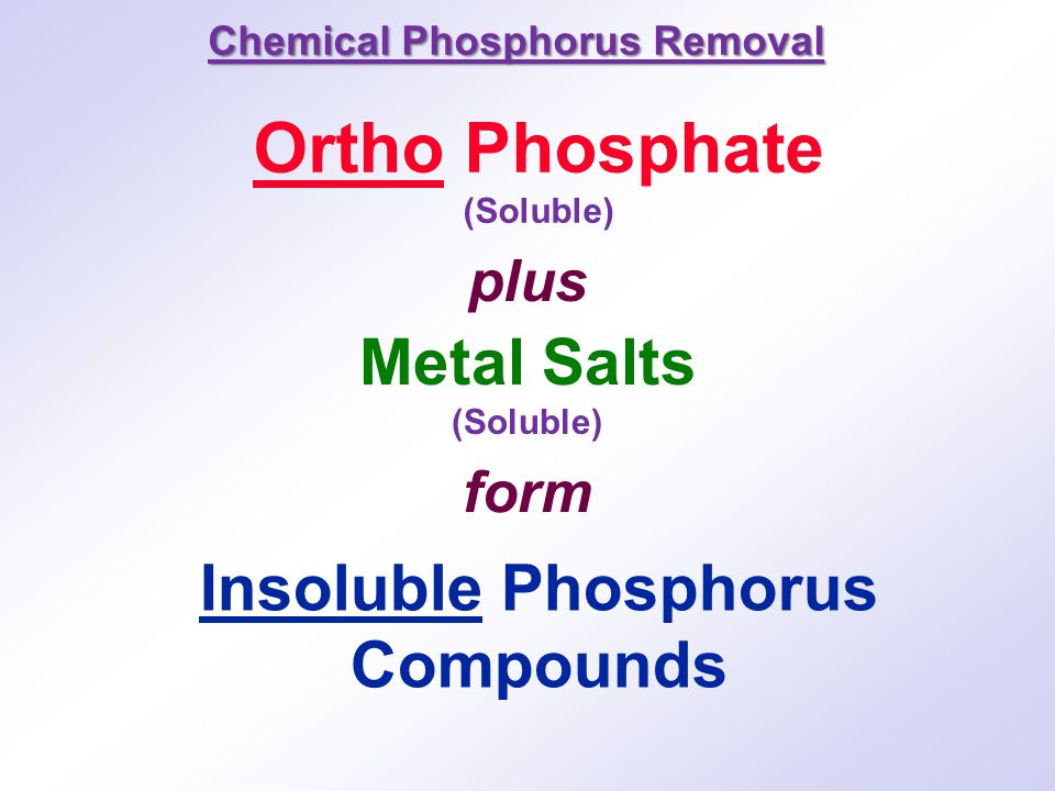 Insoluble Phosphorus Compounds