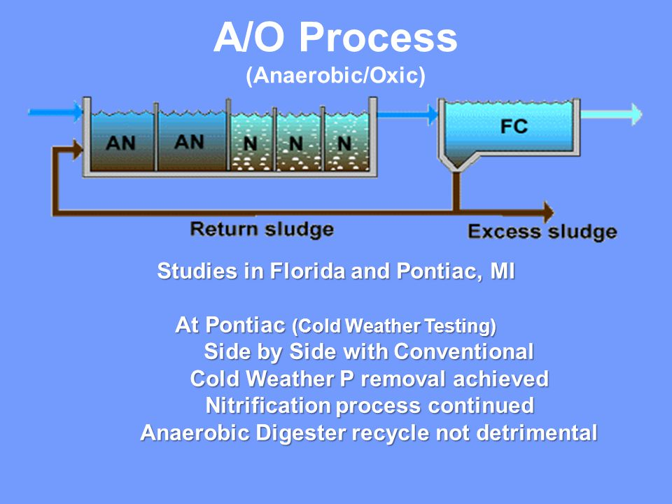 A/O Process (Anaerobic/Oxic) Studies in Florida and Pontiac, MI