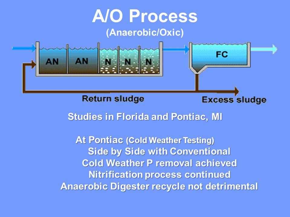 A/O Process (Anaerobic/Oxic) Studies in Florida and Pontiac, MI
