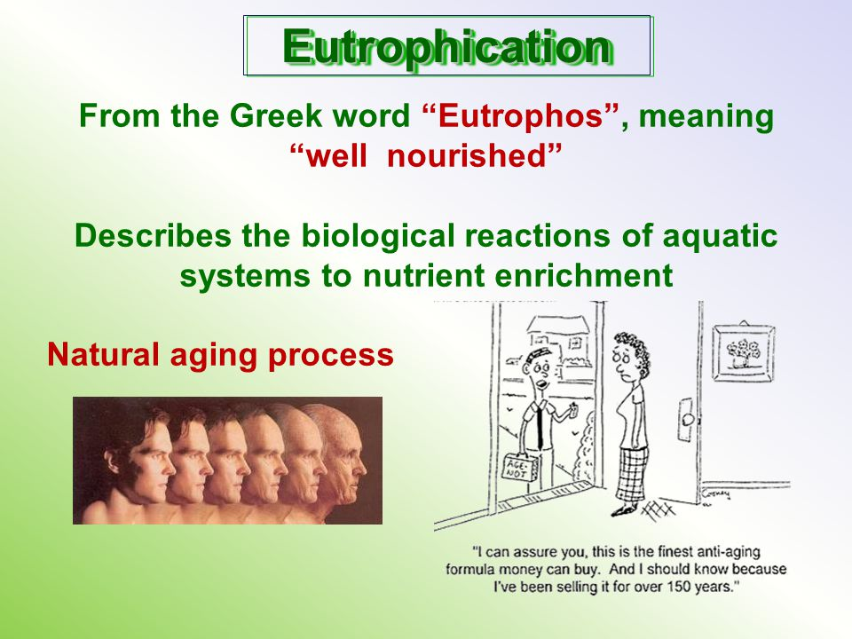 From the Greek word Eutrophos , meaning
