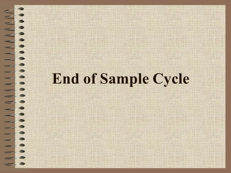 End of Sample Cycle