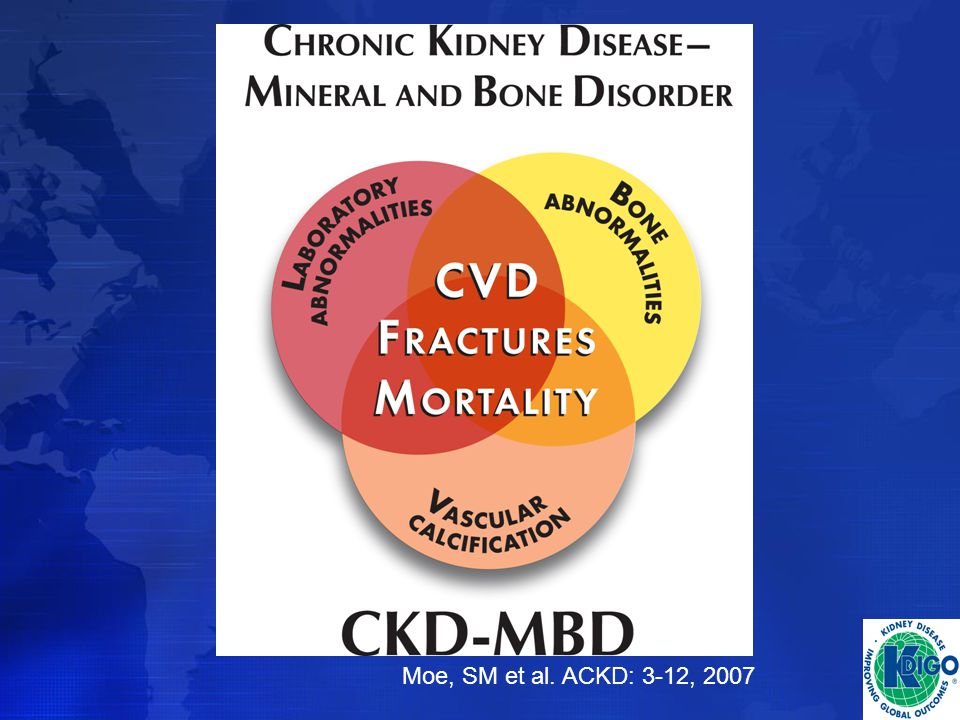 Venn Diagram developed to depict the new paradigm of CKD-MBD