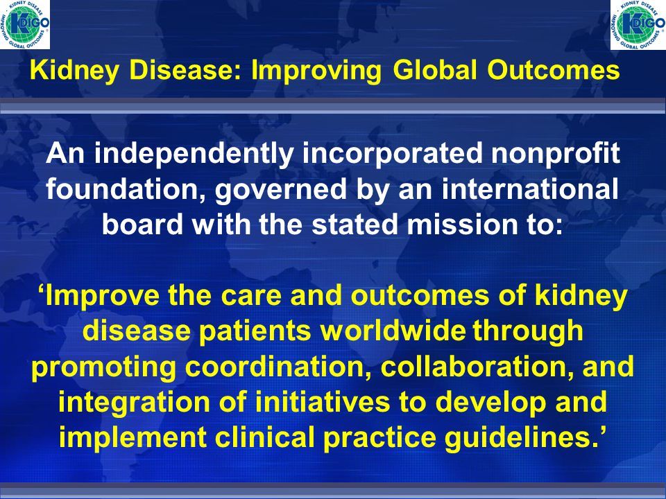 Kidney Disease: Improving Global Outcomes