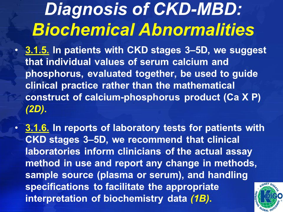 Diagnosis of CKD-MBD: Biochemical Abnormalities