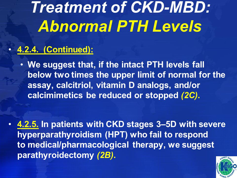 Treatment of CKD-MBD: Abnormal PTH Levels